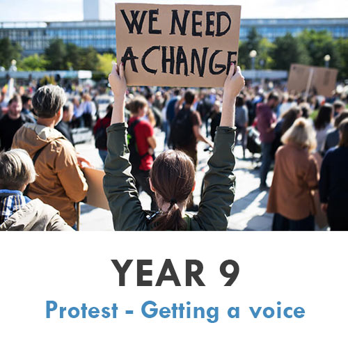 Year 9 - History - Protest - Getting a voice